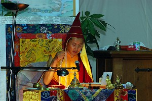 Patrul Rinpoche giving an initiation